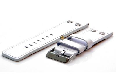 Oozoo Uhrenarmband 24mm Weiß Leder