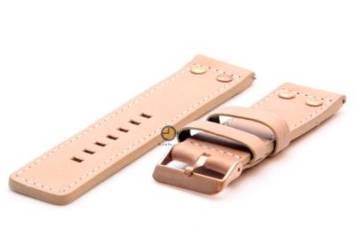 Oozoo Uhrenarmband 24mm beige Leder
