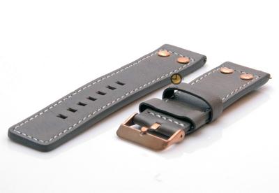 Oozoo Uhrenarmband 24mm Braun Leder