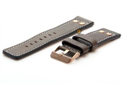 Oozoo Uhrenarmband 22mm Braun Leder