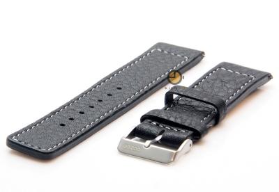 Oozoo Uhrenarmband 20mm Schwarz Leder