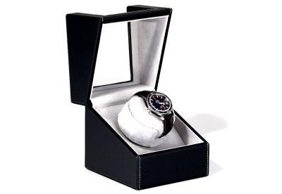 Uhrenbeweger 1 Uhr Schwarz Leder