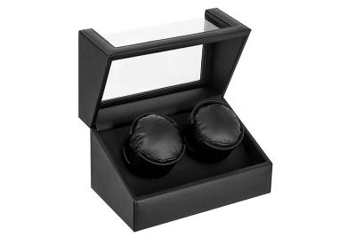 Uhrenbeweger 2 Uhren Schwarz Leder