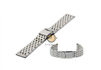 Uhrenarmband 22mm Silber Stahl poliert (massiv)
