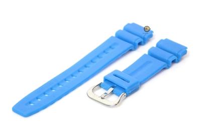 Uhrenarmband 20mm Blau Kautschuk