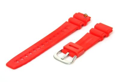 Uhrenarmband 20mm Rot Kautschuk