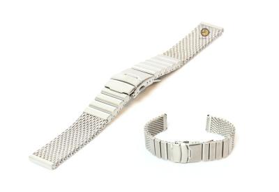 Uhrenarmband 20mm Silber Mailänder Stahl matt