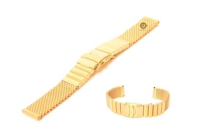 Uhrenarmband 22mm Gold Mailänder Stahl matt