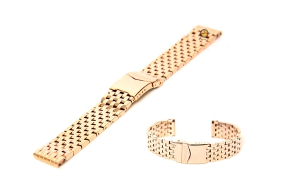Uhrenarmband 20mm Rotgold Stahl