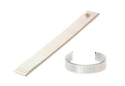 Uhrenarmband 20mm Silber Edelstahlzugband