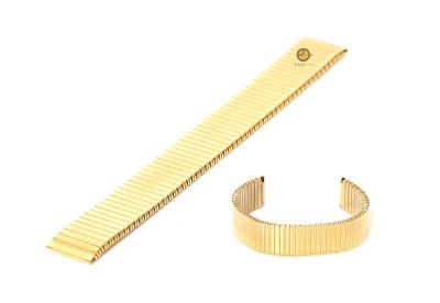 Uhrenarmband 20mm Gold Edelstahlzugband
