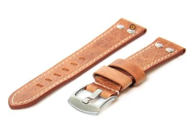 Uhrenarmband 24mm Braun Leder Vintage-Look