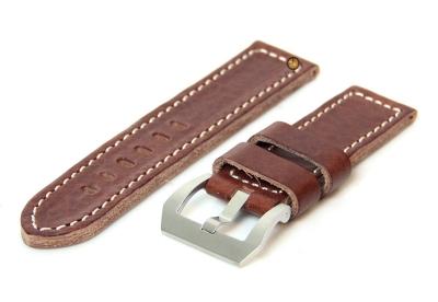 Uhrenarmband 26mm Braun Kalbsleder