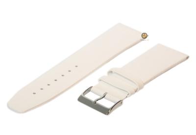 Uhrenarmband 28mm Weiß nahtloses Leder