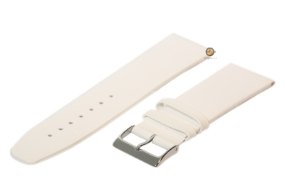 Uhrenarmband 30mm Weiß nahtloses Leder