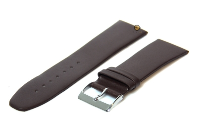 Uhrenarmband 26mm Braun nahtloses Leder