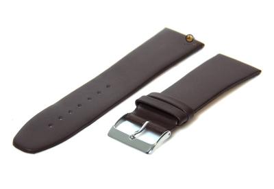 Uhrenarmband 28mm Braun nahtloses Leder
