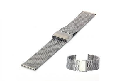 Uhrenarmband 22mm Silber Mailänder Stahl