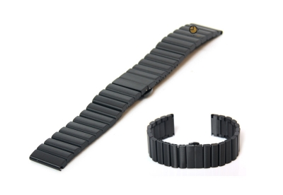 Uhrenarmband 20mm Schwarz Stahl