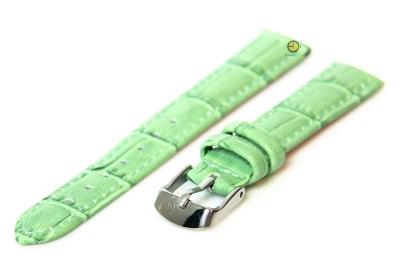 Uhrenarmband 12mm Gün Leder mit Kroko-Druck
