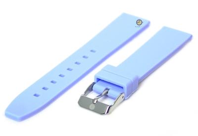 Uhrenarmband 18mm Hellblau Silikon
