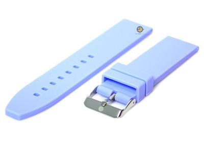 Uhrenarmband 20mm Hellblau Silikon