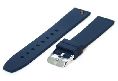 Uhrenarmband 16mm Dunkelblau Silikon