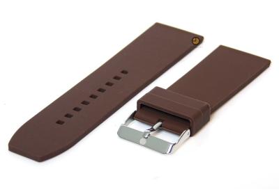 Uhrenarmband 26mm Braun Silikon
