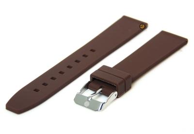 Uhrenarmband 18mm Dunkelbraun Silikon