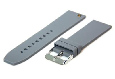 Uhrenarmband 22mm Grau Silikon