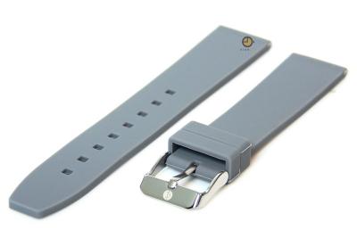 Uhrenarmband 18mm Grau Silikon