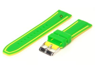 Uhrenarmband 22mm Gün-Gelb Silikon, umdrehbar