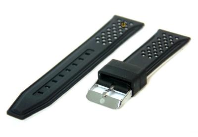 20mm Silikon Uhrenarmband Schwarz/Weiß