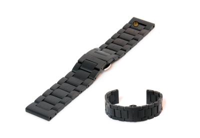 Uhrenarmband aus Holz 24mm Schwarz (Blackwood)