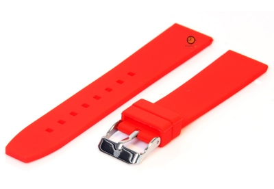 Uhrenarmband 18mm Rot Silikon