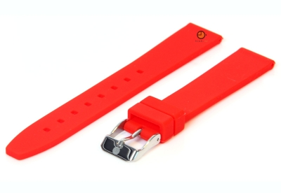 Uhrenarmband 16mm Rot Silikon