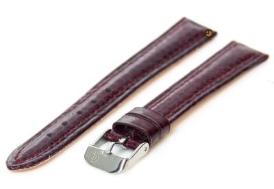 Uhrenarmband 16mm bordeaux echtes Schlangenleder