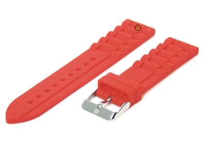 Silikon Uhrenarmband 22mm Rot