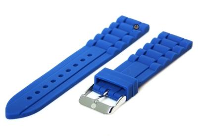 Silikon Uhrenarmband 22mm Blau