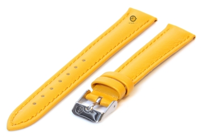 Uhrenarmband 12mm Gelb Kalbsleder