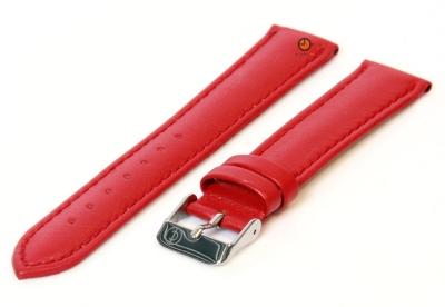Uhrenarmband 16mm Rot Kalbsleder