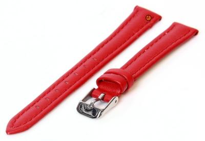 Uhrenarmband 12mm Rot Kalbsleder