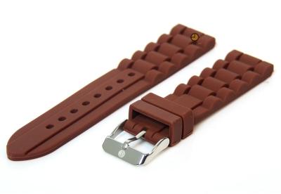 Silikon Uhrenarmband 18mm Braun