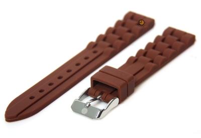 Silikon Uhrenarmband 16mm Braun