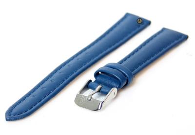 Uhrenarmband 14mm Blau Kalbsleder