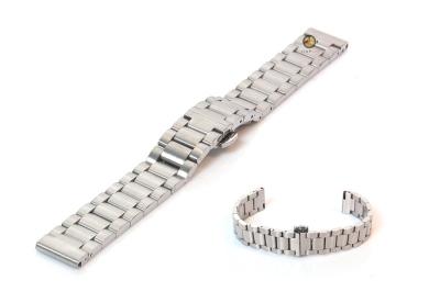 Uhrenarmband 16mm Silber Stahl matt
