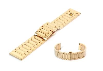 Uhrenarmband 22mm Gold Stahl matt