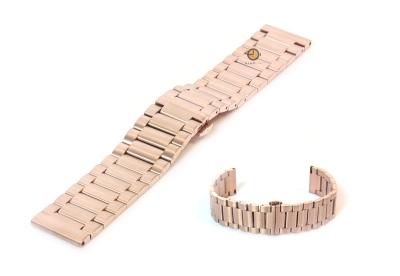 Uhrenarmband 22mm Roségold Stahl