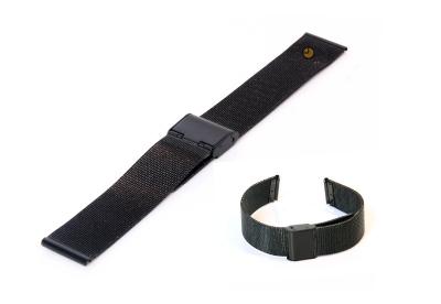 Uhrenarmband 18mm Schwarz Mailänder Stahl