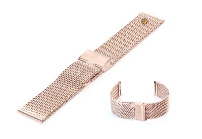 Uhrenarmband 22mm Roségold Mailänder Stahl